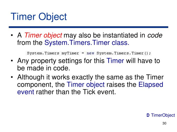 Timer Object