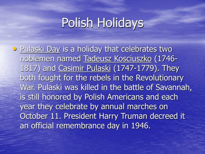 Polish Holidays