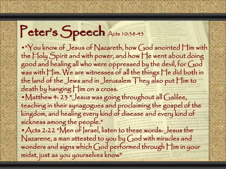 Peter's Speech