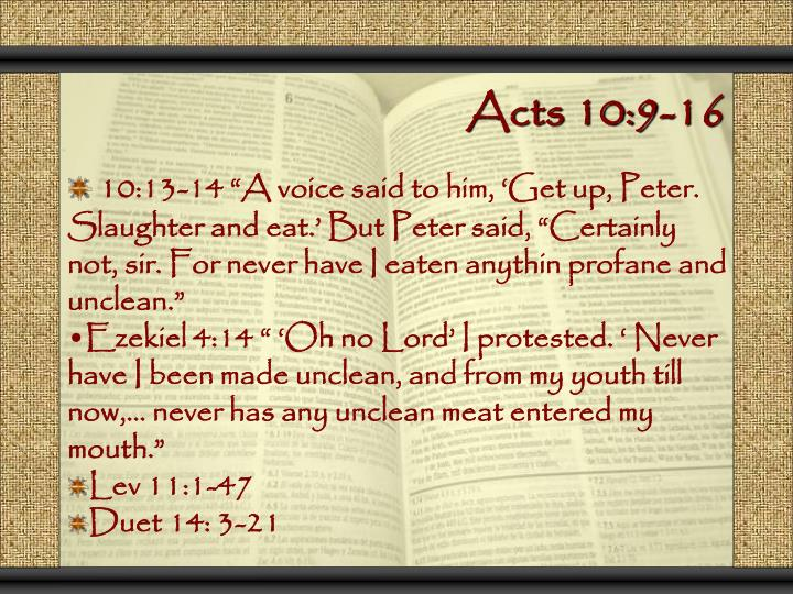 Acts 10:9-16