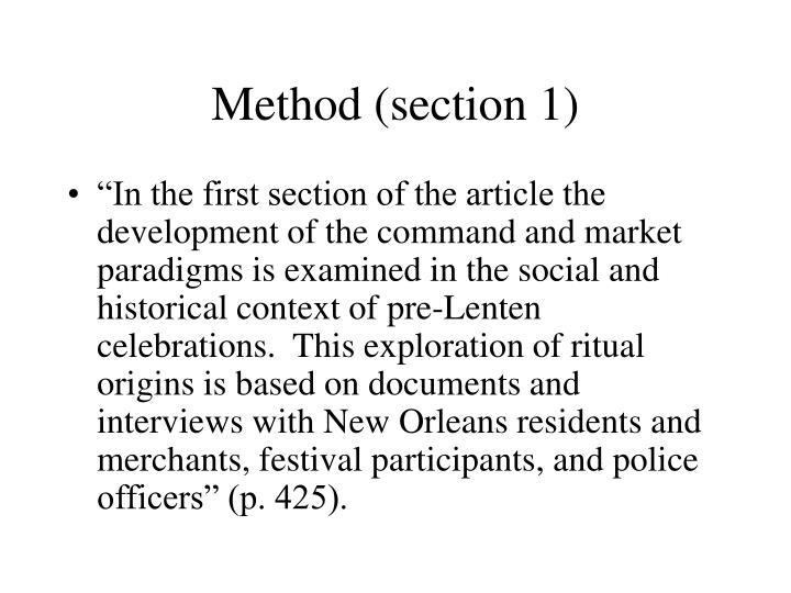 Method (section 1)