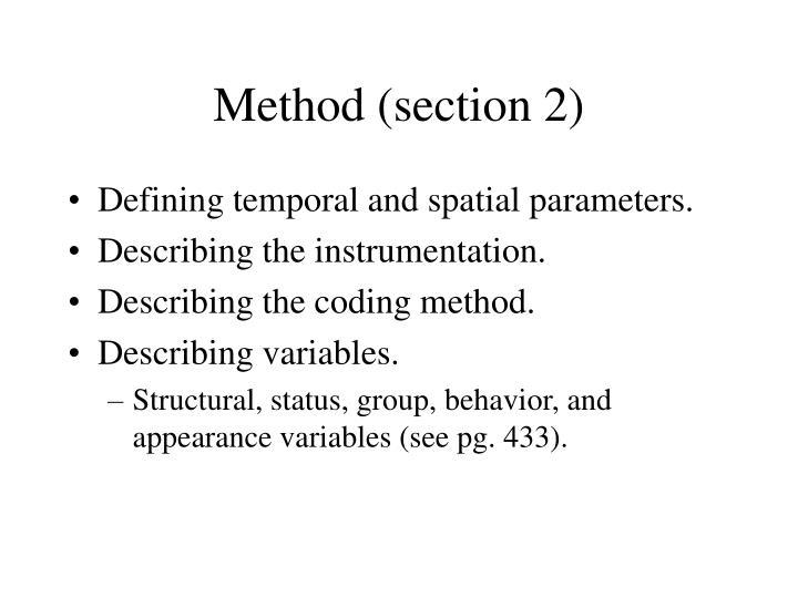 Method (section 2)