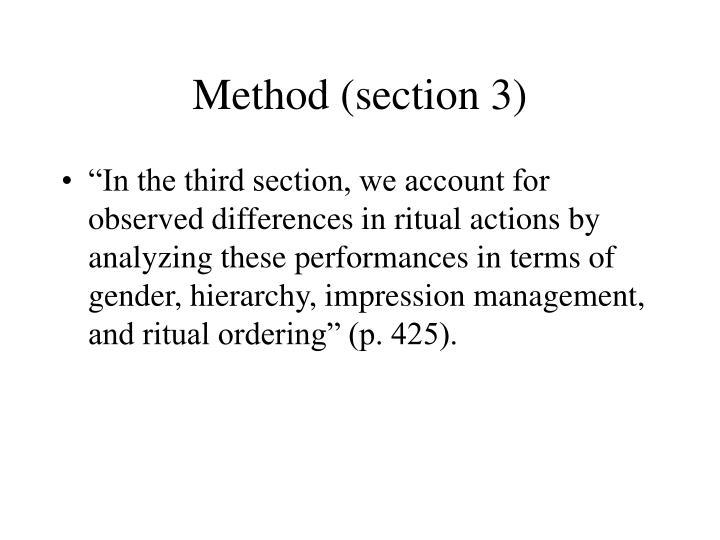 Method (section 3)