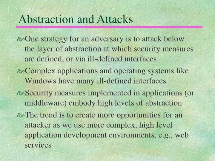 Abstraction and Attacks