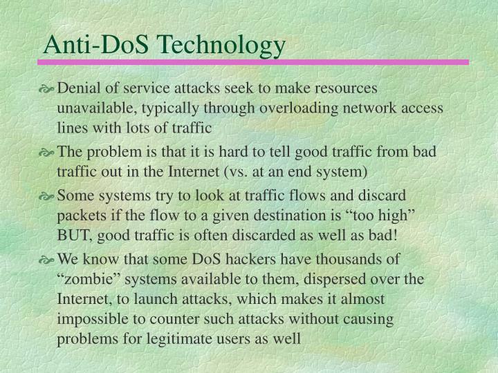 Anti-DoS Technology