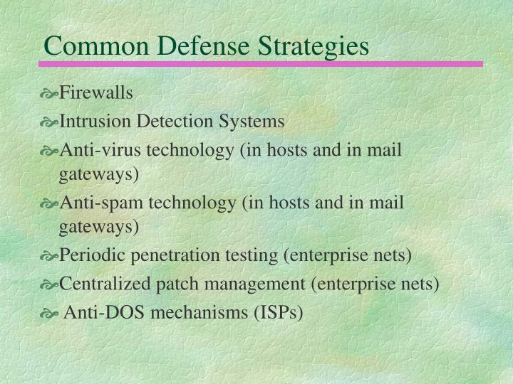 Common Defense Strategies