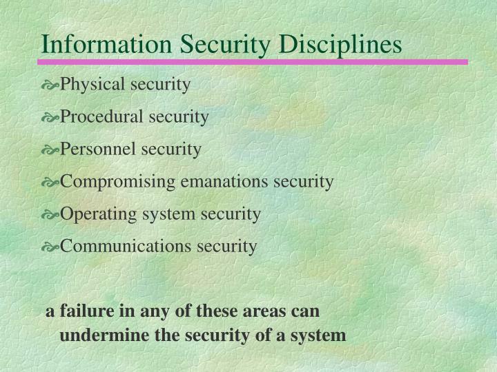 Information Security Disciplines