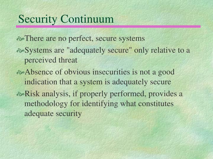 Security Continuum