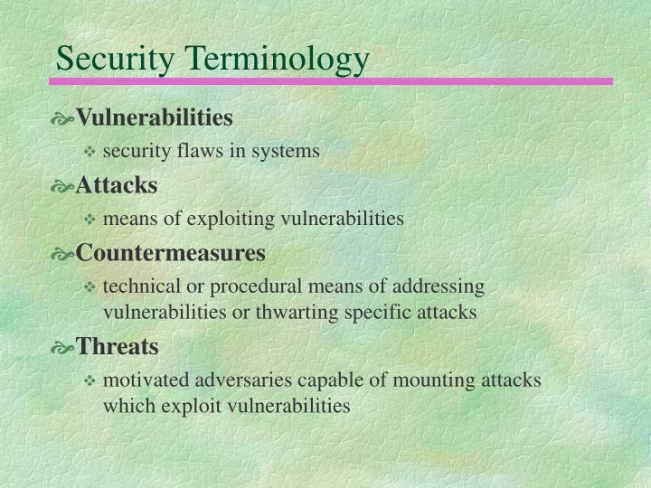 Security Terminology