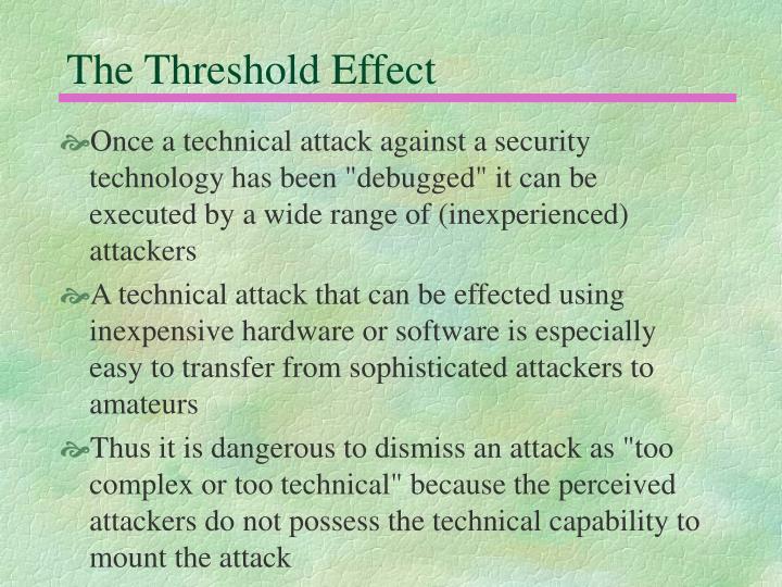 The Threshold Effect