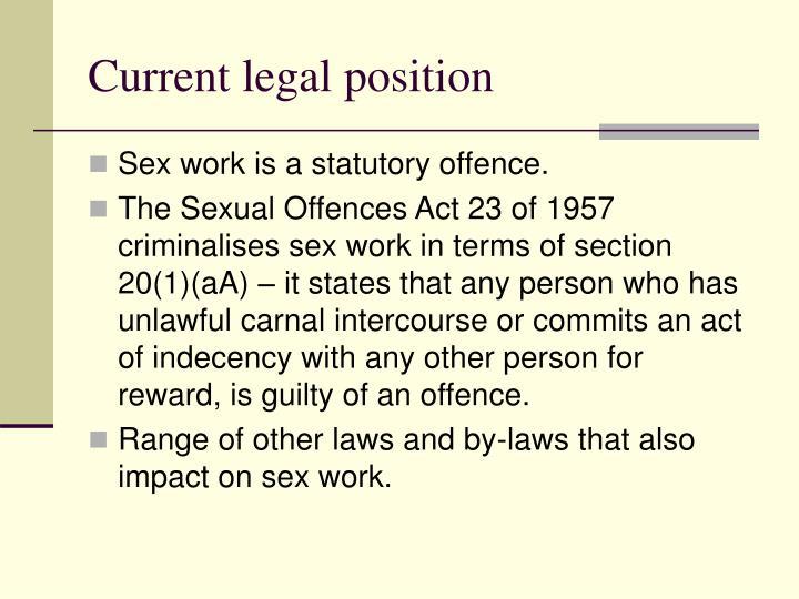 Current legal position