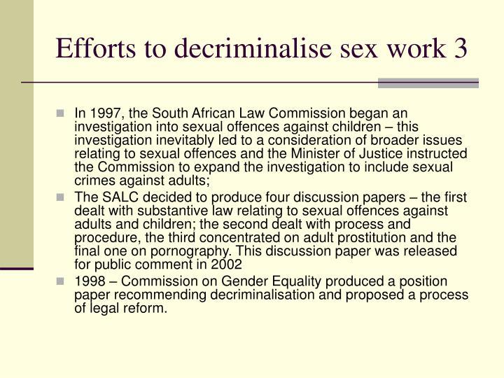 Efforts to decriminalise sex work 3