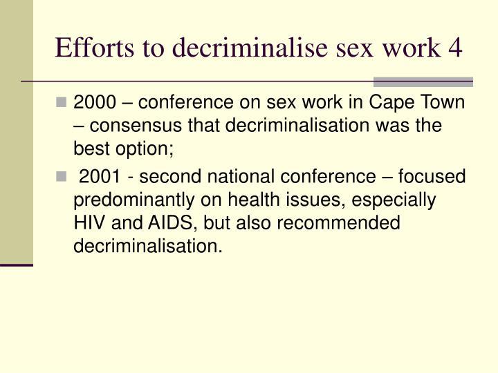 Efforts to decriminalise sex work 4