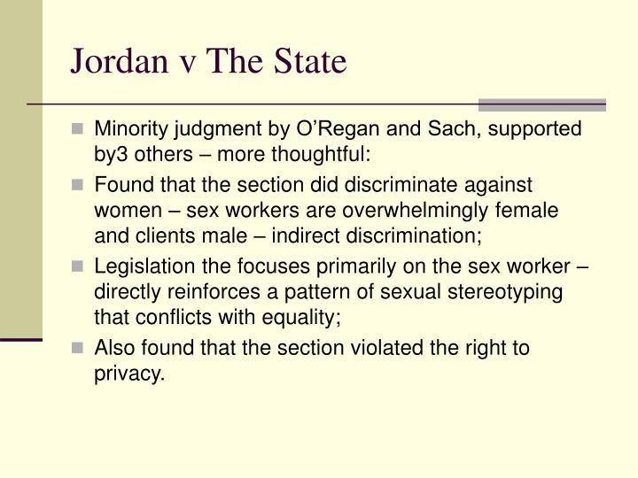 Jordan v The State