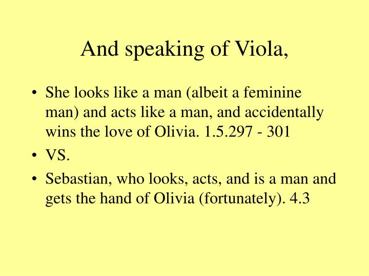 And speaking of Viola,