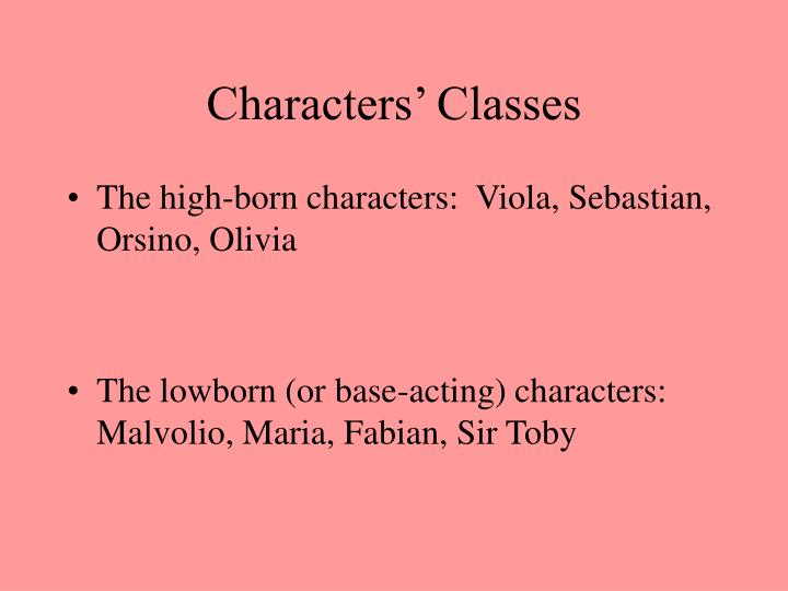 Characters' Classes