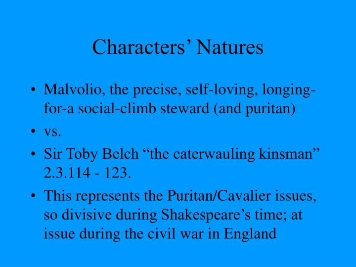 Characters' Natures