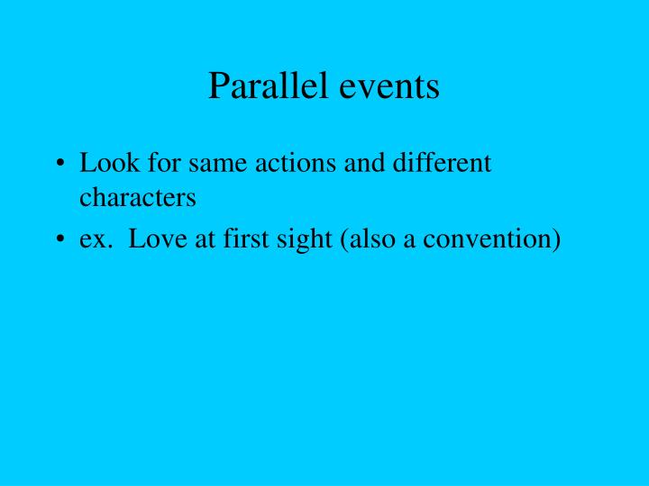 Parallel events