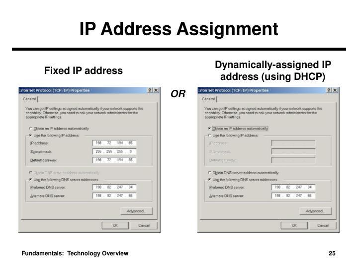 IP Address Assignment