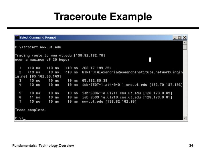 Traceroute Example