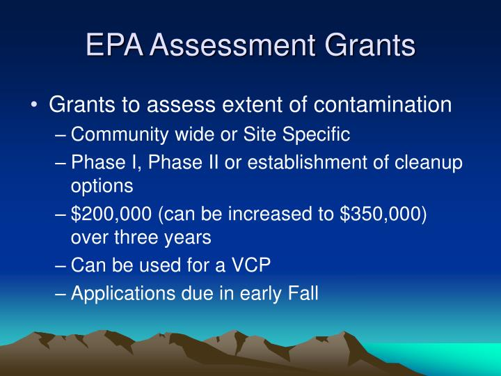 EPA Assessment Grants