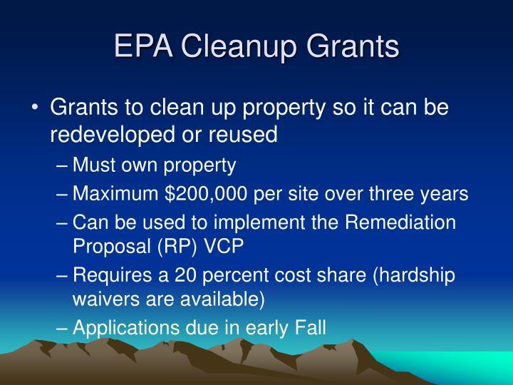 EPA Cleanup Grants
