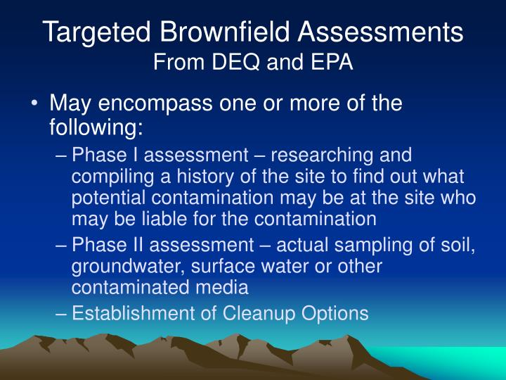 Targeted Brownfield Assessments