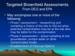 targeted brownfield assessments from deq and epa