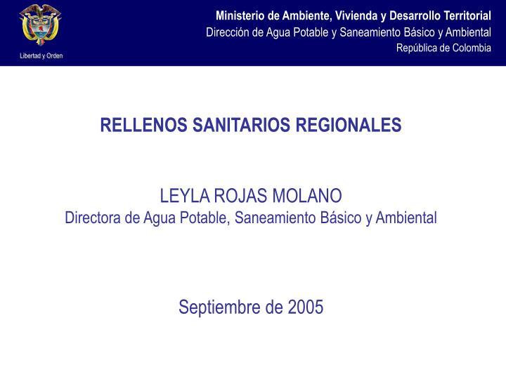 RELLENOS SANITARIOS REGIONALES