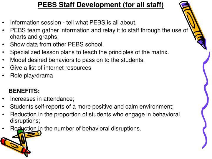 PEBS Staff Development (for all staff)