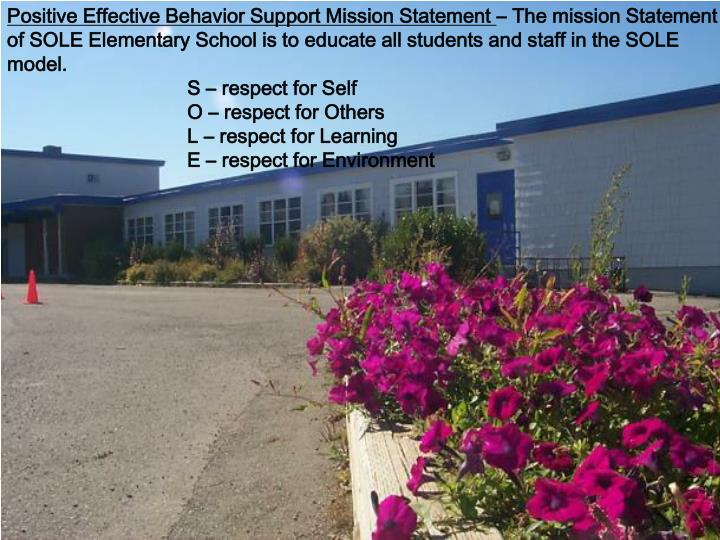 Positive Effective Behavior Support Mission Statement