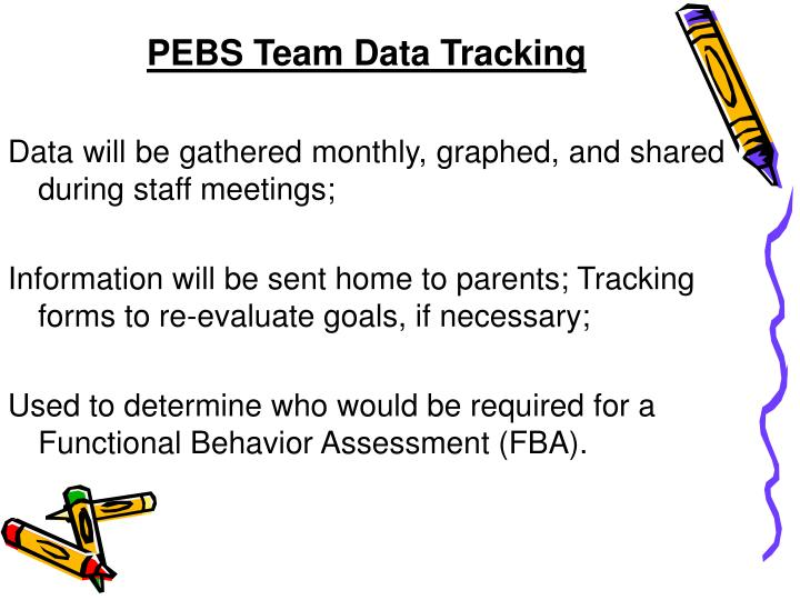 PEBS Team Data Tracking