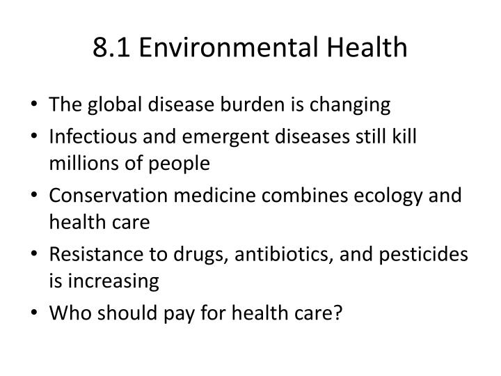 8.1 Environmental Health
