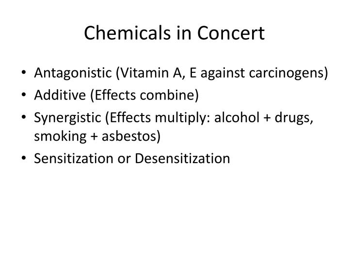 Chemicals in Concert