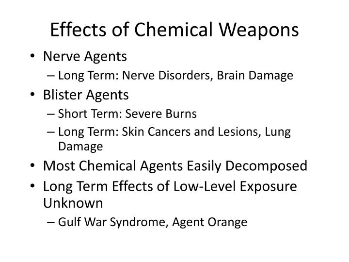 Effects of Chemical Weapons