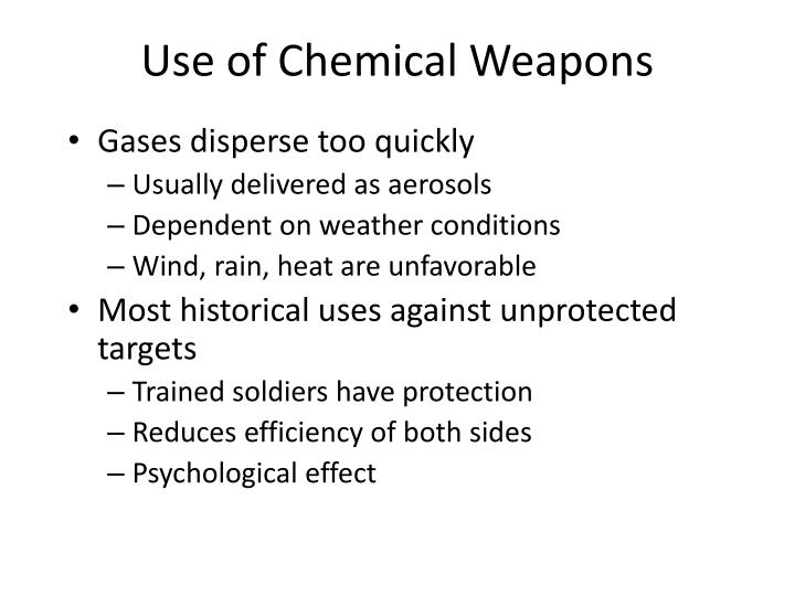 Use of Chemical Weapons