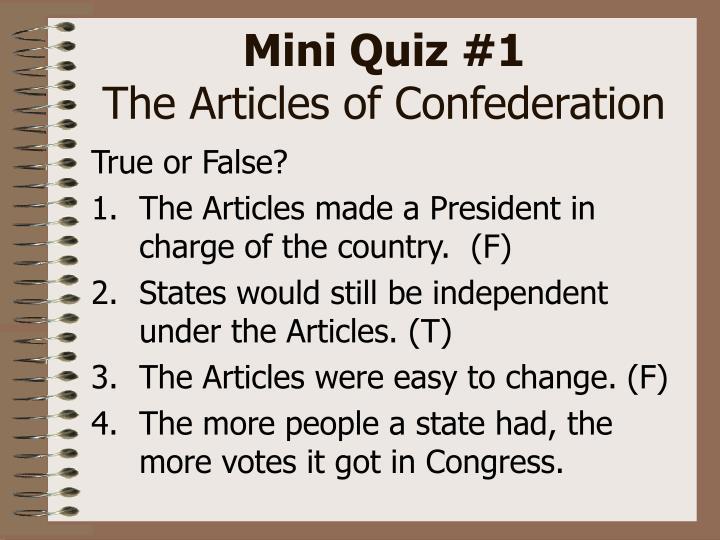 Mini Quiz #1