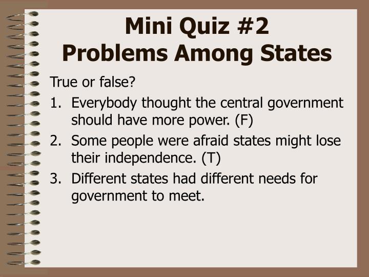 Mini Quiz #2
