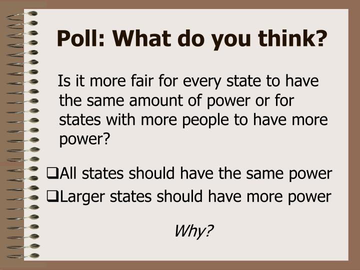 Poll: What do you think?