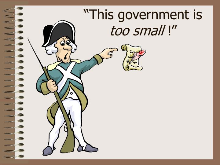 """""""This government is"""