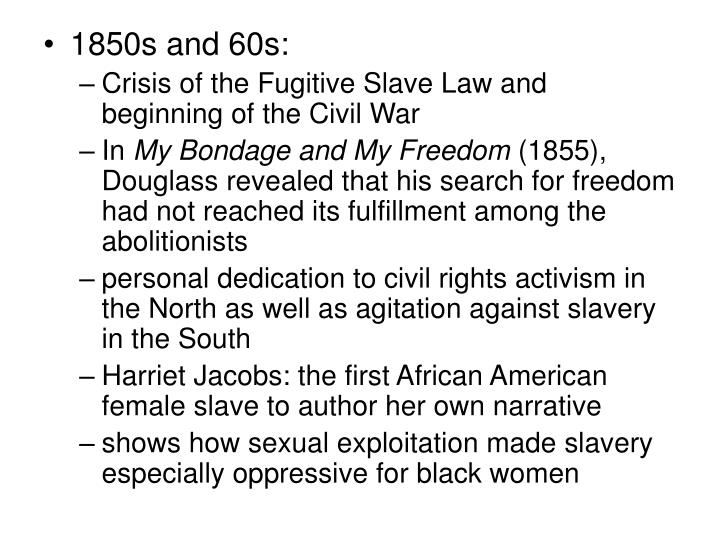 1850s and 60s: