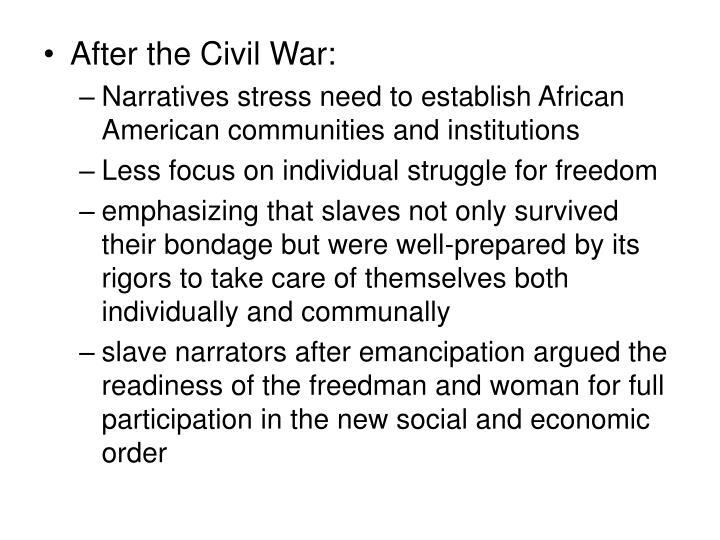 After the Civil War: