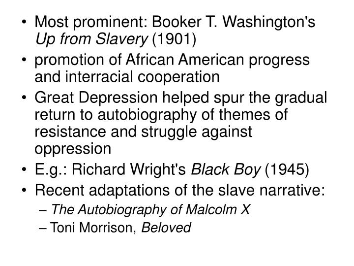 Most prominent: Booker T. Washington's