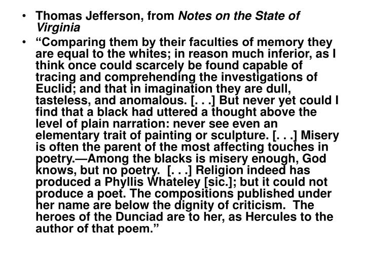 Thomas Jefferson, from