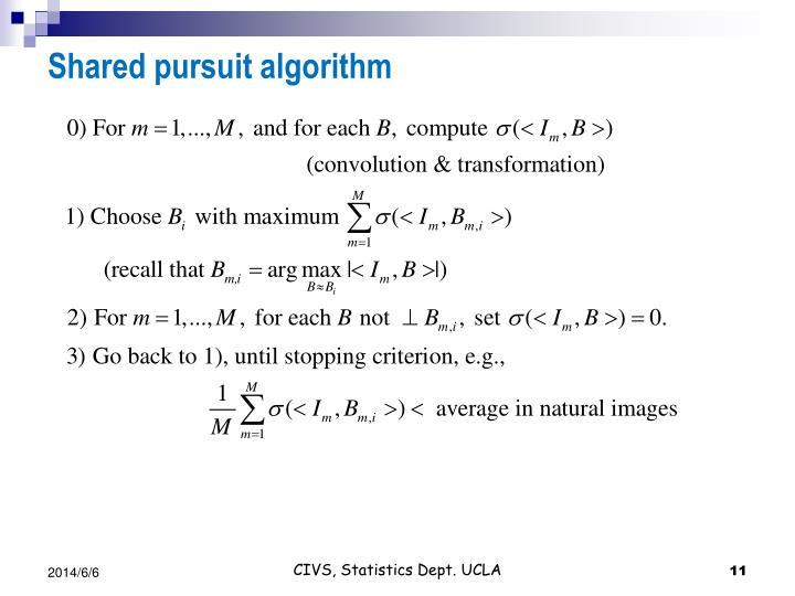 Shared pursuit algorithm