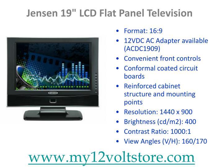 "Jensen 19"" LCD Flat Panel Television"