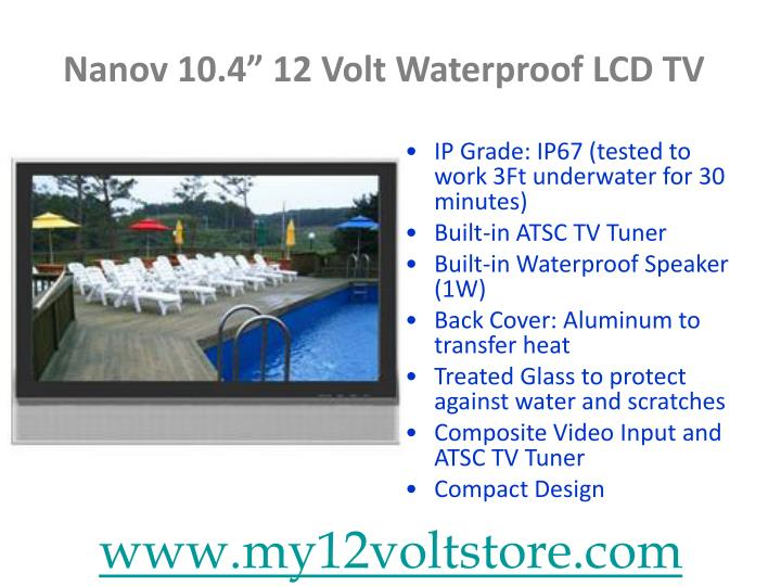 Nanov 10 4 12 volt waterproof lcd tv