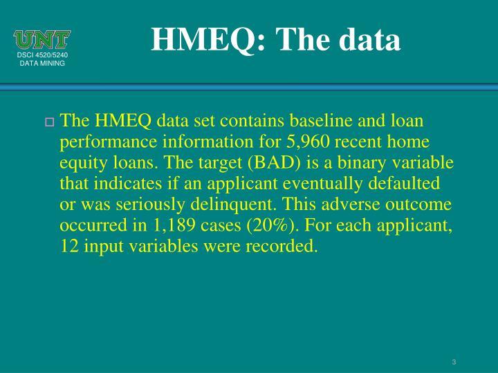 HMEQ: The data