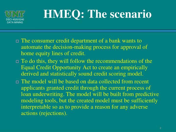 HMEQ: The scenario