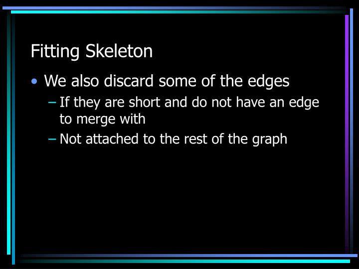 Fitting Skeleton